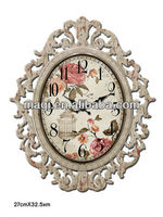 2013 New Antique Sun Shaped Metal Wall Clock