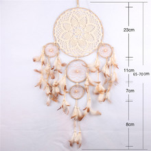 AYDC-0074 wholesalers indian hall dreamcatcher feather decoration dream catcher mobile