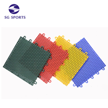 Green Color Easy to Maintain Outdoor Plastic Interlock Soccer Court Floor