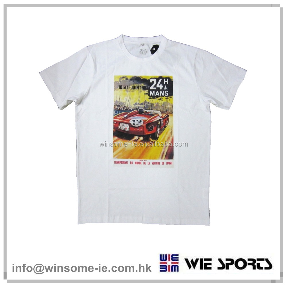 Professional customized Mens 100% cotton digital print short sleeve racing uniform