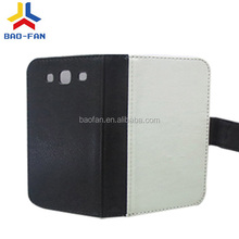 High quality sublimation leather flip cover for samsung galaxy S3