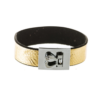 new fashion jewelry gold leather bracelet design for men/women/kids