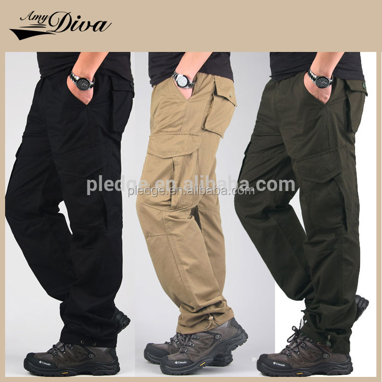 OEM supplier Men's Tactical Combat Fatigue Trousers Military Cargo Multi-Pocket cargo man pants
