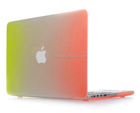 Multi colors rubberized frosted PC laptop case for Macbook Air/Macbook Pro/Macbook retina 11inch 13inch 15inch