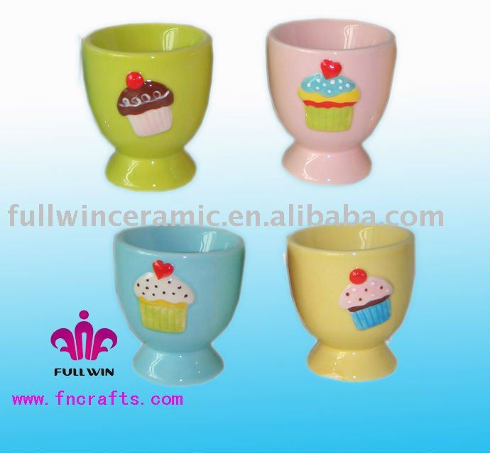 Ceramic Ice Cream Egg Cup