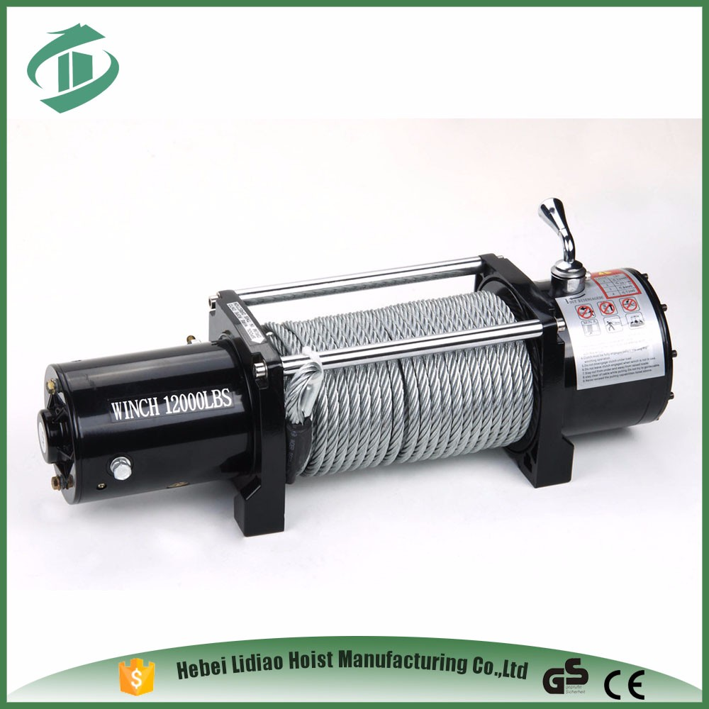 HUBANG 12000 ELECTRIC WINCH W/ SYNTHETIC ROPE