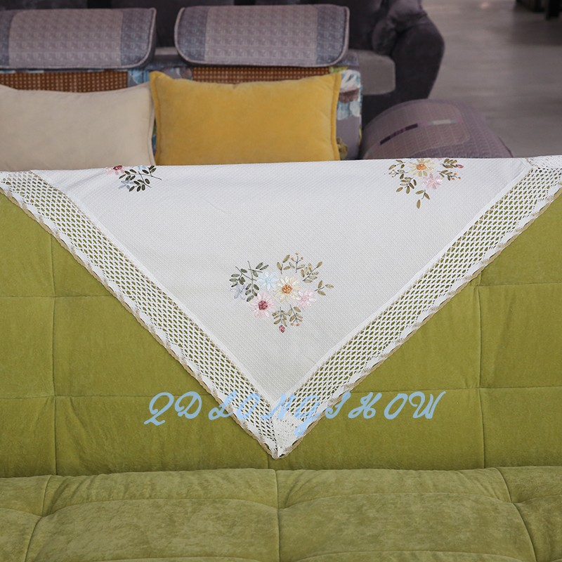 Trade Assurance manufacturer direct supplier latest hand embroidery designs tablecloths linen high quality
