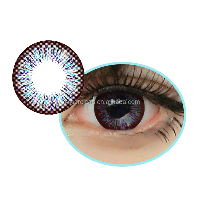 7 colors stock yearly high quality wholesale baby color lenses doll eye contacts