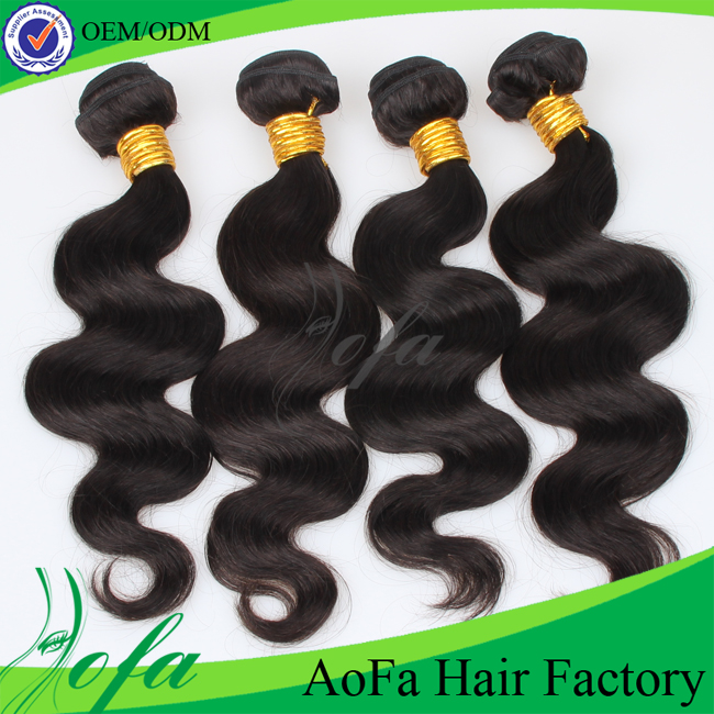 100% human hairextensions brazilian virgin loose wave hair