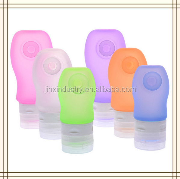 37ml 60ml 89ml Custom Wholesale Bpa Free Silicone Cosmetic Squeeze Bottle Hanging Shampoo Travel Bottle