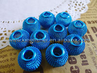 Fancy Blue colors round mesh wire balls beads!! 14mm round mesh spacer beads for jewelry decorations!! Hottest!! Lowest!! !!