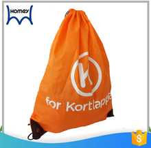 Travel cover tote silk screen printing backpack drawstring polyester bag