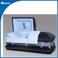 American style steel metal funeral caskets coffin