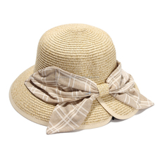Factory high quality 100% straw hat sunhat custom bucket hat