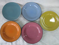 hand painted color glaze stoneware cheap wholesale dinner plates