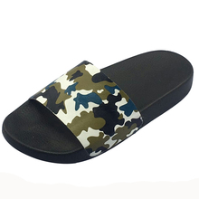 Unisex Slide With Injectiion Pu Sole Shoes PU injection Slippers C1078K
