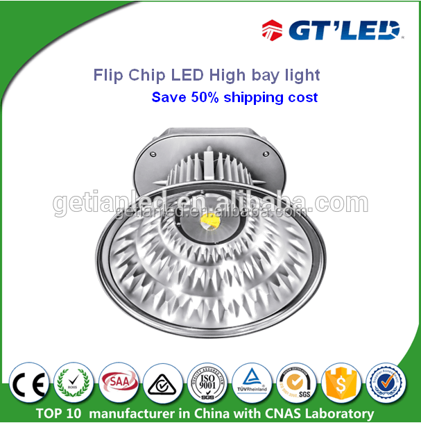 New tech flip chip LED High bay 100w 150w 200w industrial led high bay light for warehouse