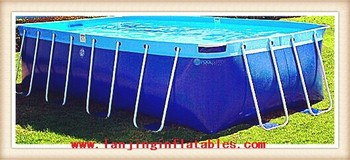 rectangular metal frame pool