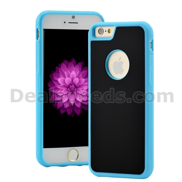 TPU+PC phone case, selfie sticky magic adsorption antigravity cover for iPhone 6S/6 case