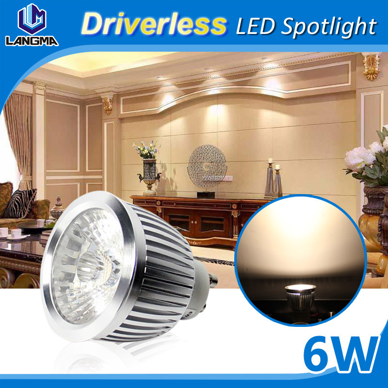 110V 220V 6w 550 lumen pure white led gu10 lights 38 degree gu 10 led
