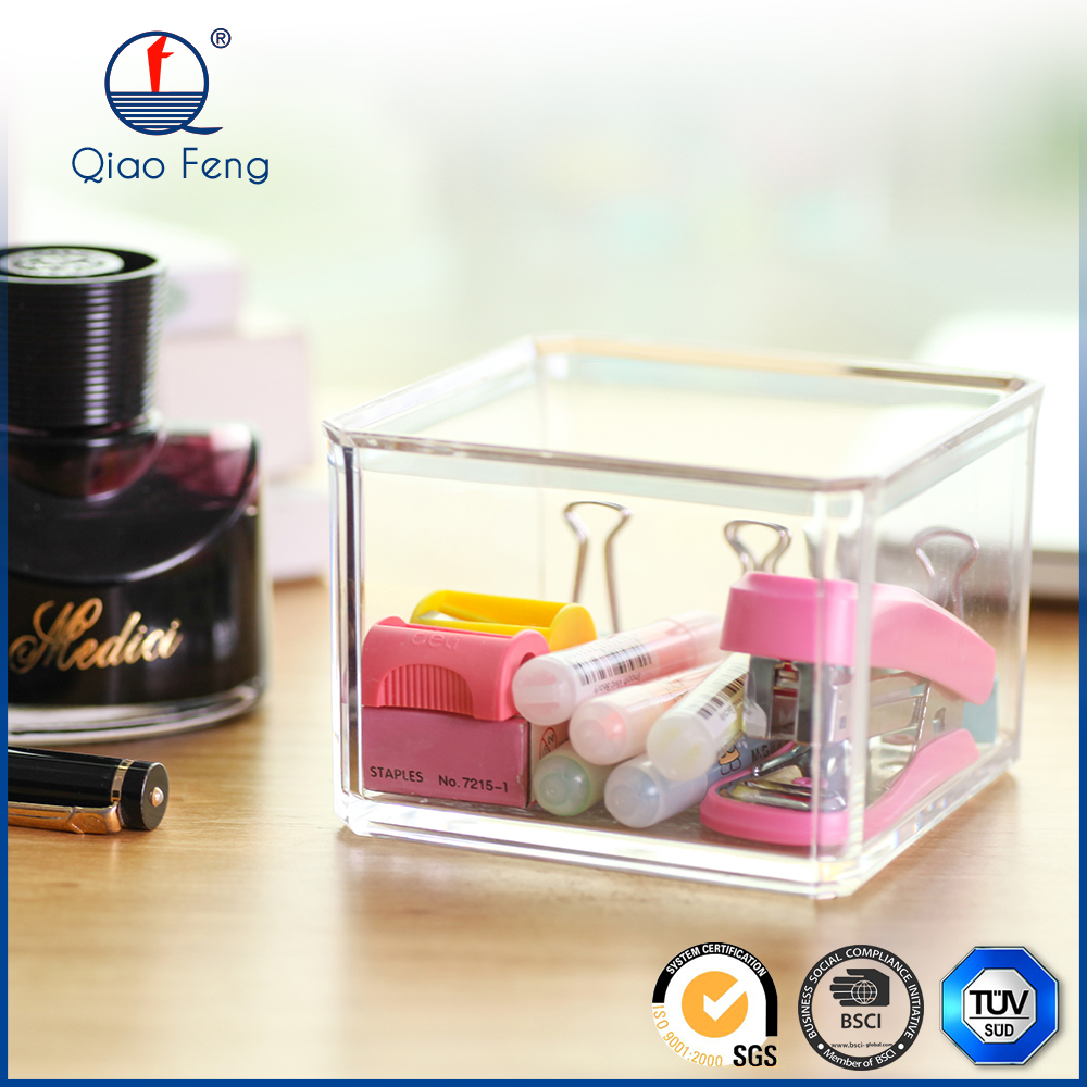 Lipstick holder with mirror display racks clear acrylic box