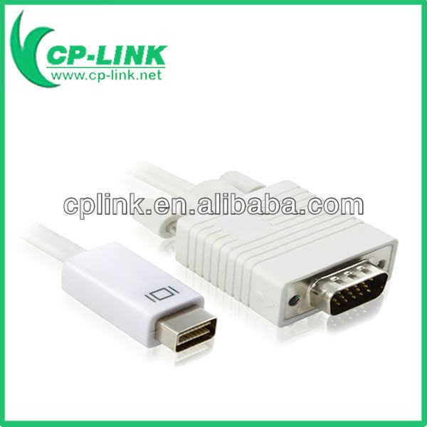 MiniDVI male to VGA male adapter cable 3M