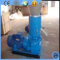 Customized best sell coconut granulating chinese leaf rotary cassava flat die wood pellet mill