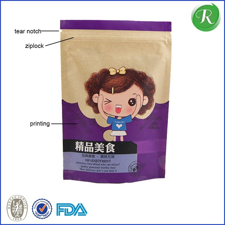 custom eco friendly white biodegradable PVC plastic zipper bags transparent for packing