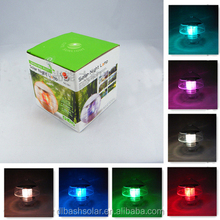 IP68 7colors Solar Powered LED butterfly Water Floating Light swimming pool led lights