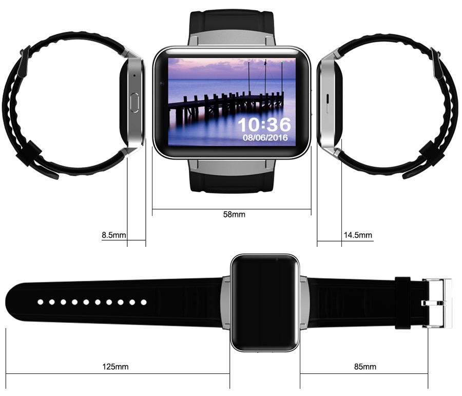 2.2 inch 320*240 Display wholesale mobile watch BT smart watch with 3G Wifi