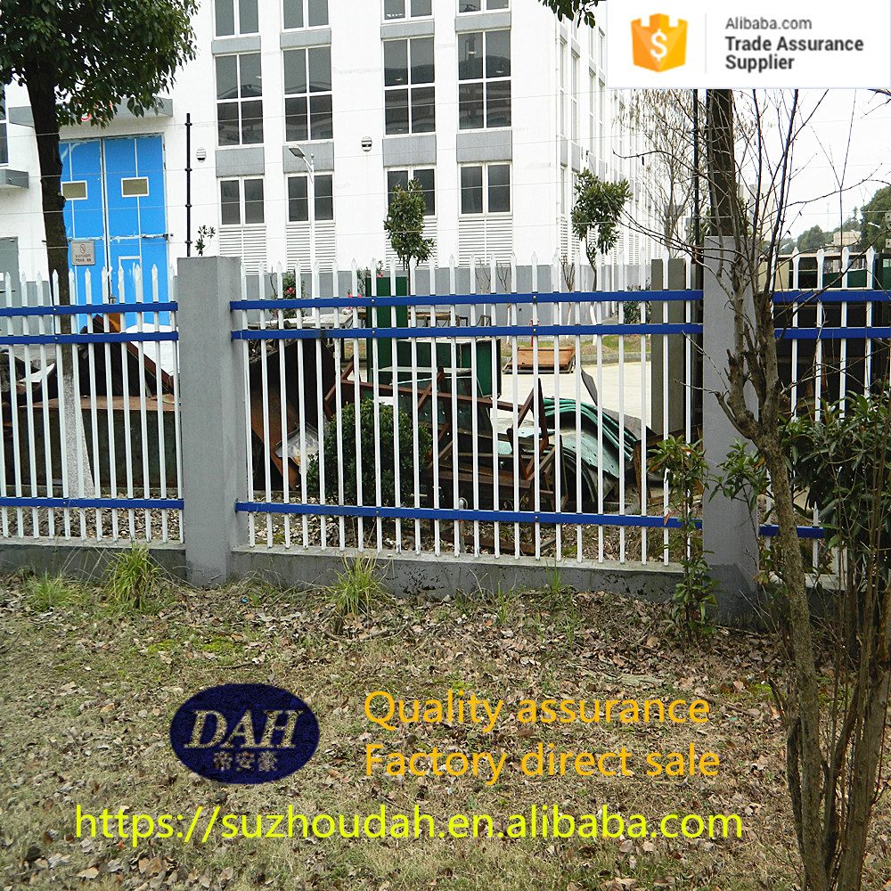 Decorative easily install outdoor metal dog fence