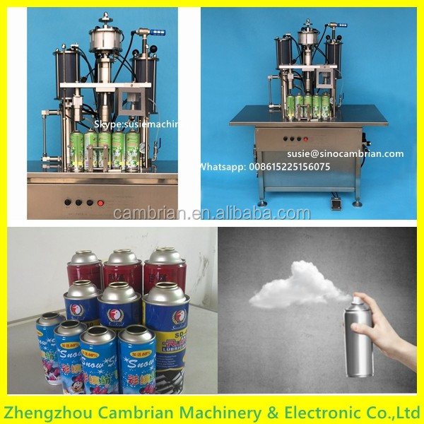 High filling accuracy aerosol filling plant with electric control