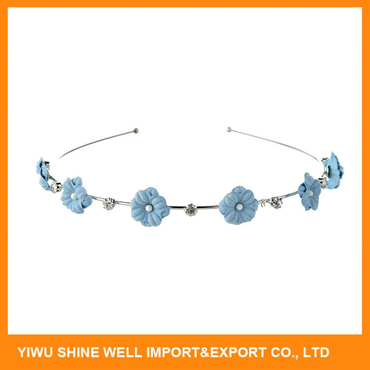 Modern style OEM design metal rhinestone flower headband with competitive price