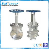 PN40 Manual flanged knife gate valve dimensions
