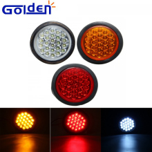 1Pcs Red Yellow White 24 SMD Car Round Tail Lights Turn Singal Light ATV LED Reflectors Truck Side Marker Warning Lights