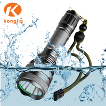 Hot selling High Power 10W Waterproof Flashlight Rechargeable LED Diving Torch