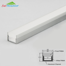 Waterproof Plastic Extruded LED Channel Strip Light Extrusion LED Profile PVC For Led Strip
