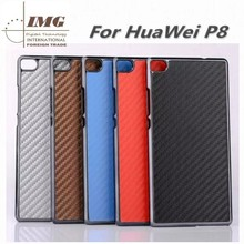 hot new products for 2015 Carbon Fiber Skin cell phone Case for huawei P8, for P8 Case bulk in stock