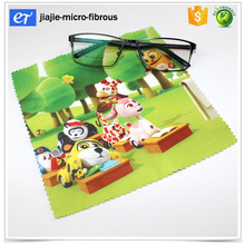 Hot transfer printing microfiber glass cleaning cloths