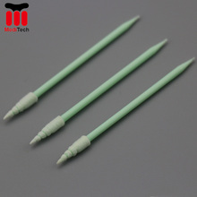 Spiral Tip Clean Room sterile Foam Swabs FS751 For Cleaning Micro-mechanical Parts