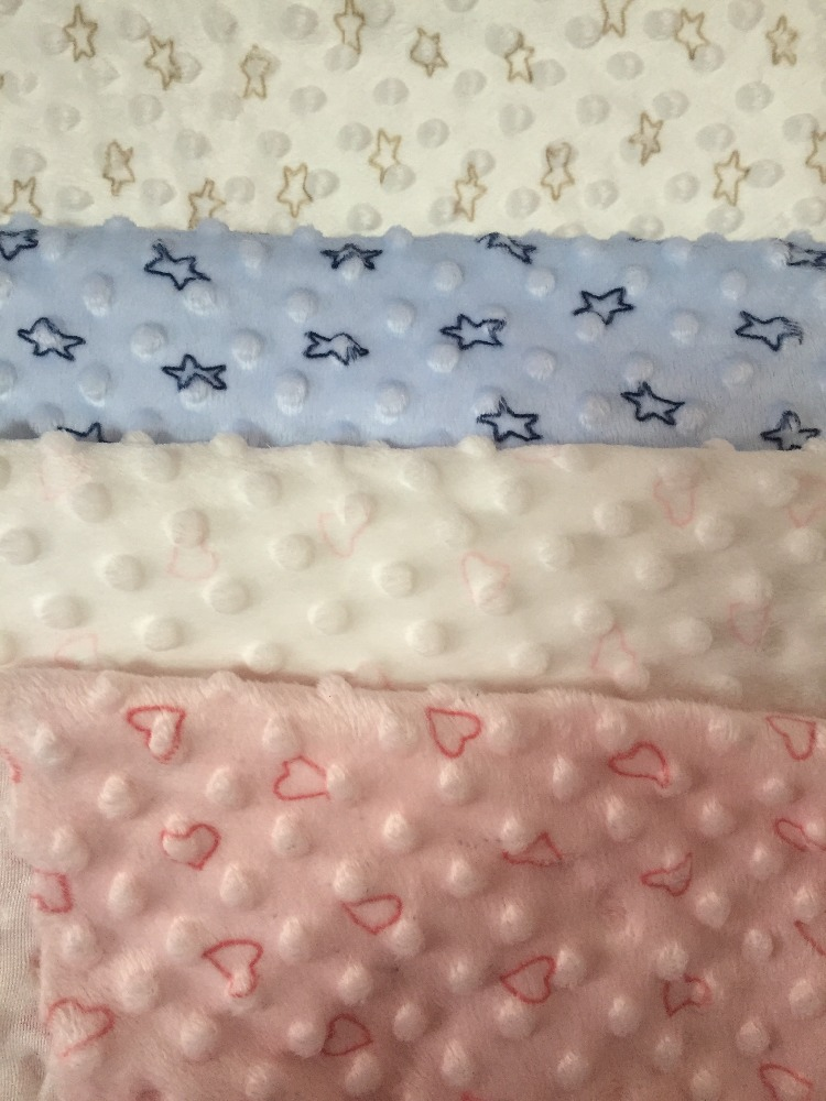 Home textile polyester brushed fabric print bubbled fleece