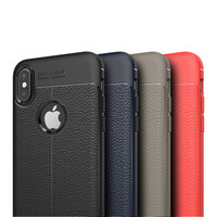 New Design Multi Models Luxury Leather Texture Fashion Shockproof TPU Leather Case for iPhone 8