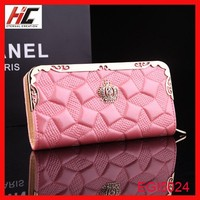Promotion elegance ladies wallet Hotsale ladies zippered hand pouch on alibaba aliexpress