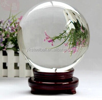 Clear 250mm 260mm large decorative crystal ball glass ball