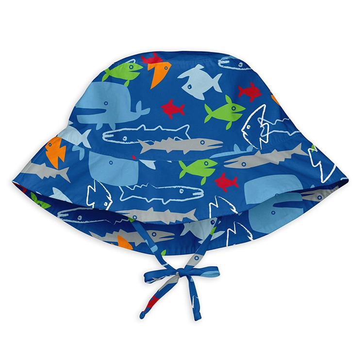 Animal Design 100% Organic Cotton Fisherman  Hat Toddler Kids Baby Breathable Reversible UPF 50+ Sun Protection Bucket Hat