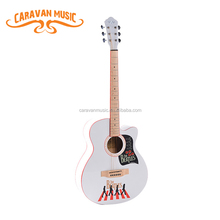 Factory direct custom spanish white acoustic guitar for sale