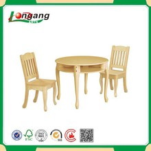 Round design kids dining table set