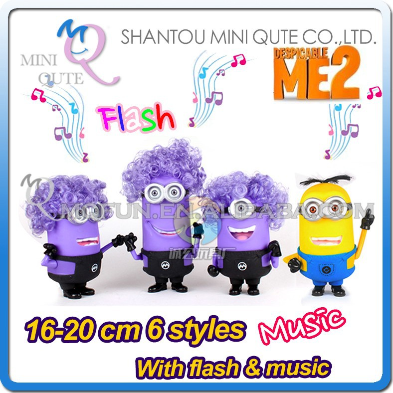Mini Qute America cartoon 6 styles musical despicable me model plastic dolls kids collection educational toys NO.MQ 031
