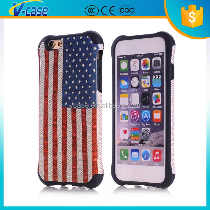 factory wholesale popular 3d 2 in 1 mobile phone cover for iphone 6S 6plus
