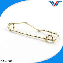 Copper metal badge clip safety pin
